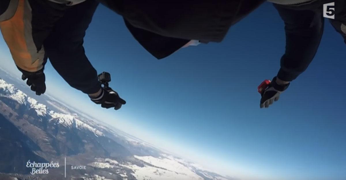 Air Mauss Parachutisme dans l'émission Échappées Belles