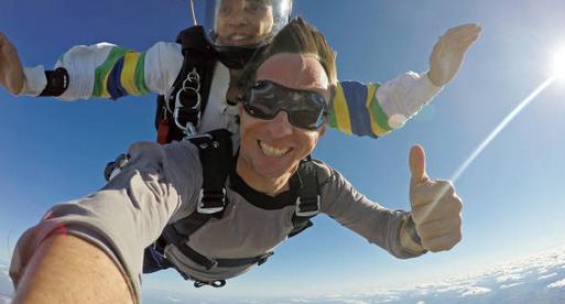 Sauter en parachute avec le vertige